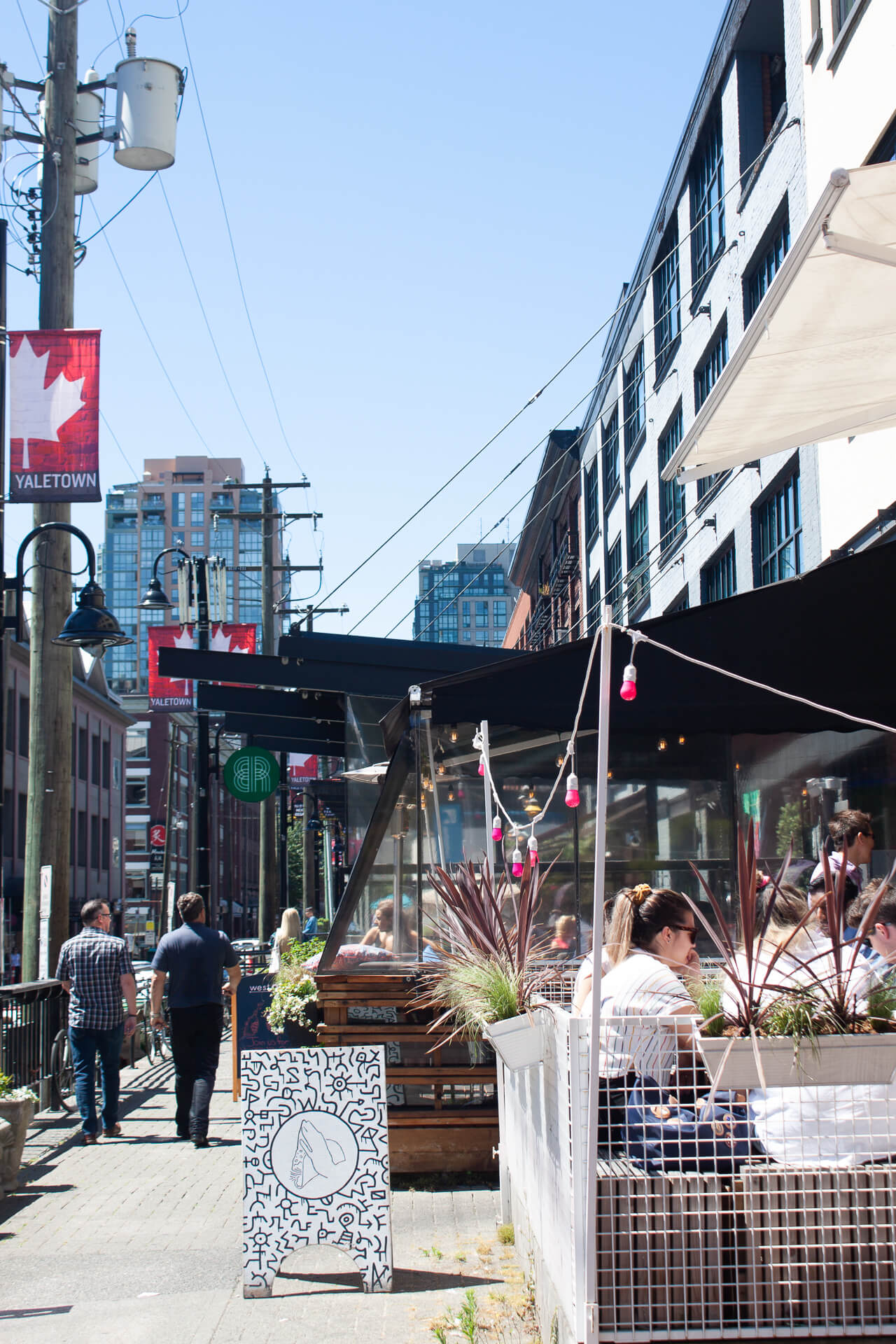Street life in Yaletown on a sunny summer's day.