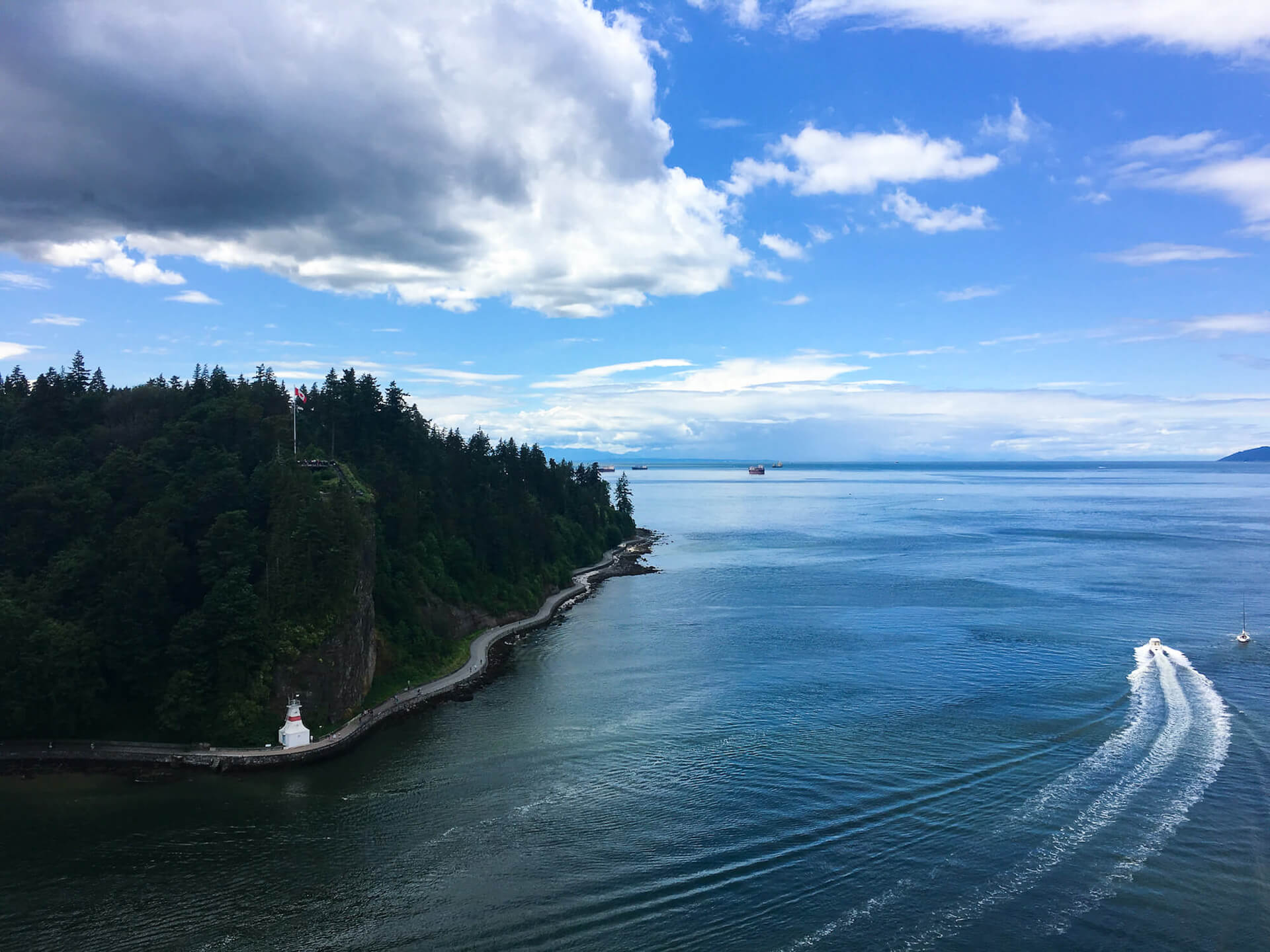 Vancouver's Stanley Park from Lions Gate Bridge