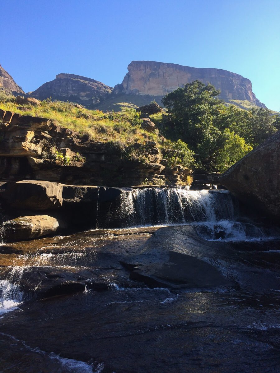 The Cascades pools in the Drakensberg