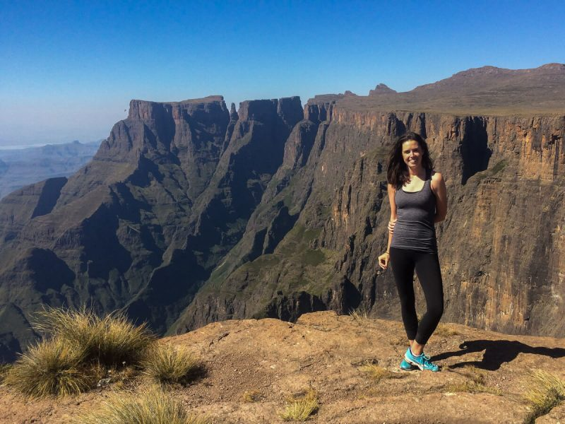 Hiking the Drakensberg cover image of Rebecca at Amphitheatre