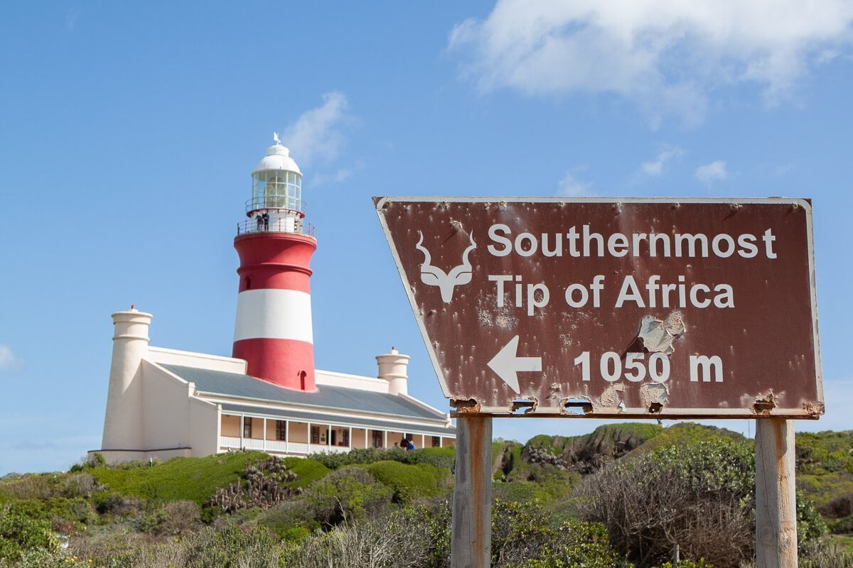 Sign of the actual Southern Most point in Africa - Aghulas