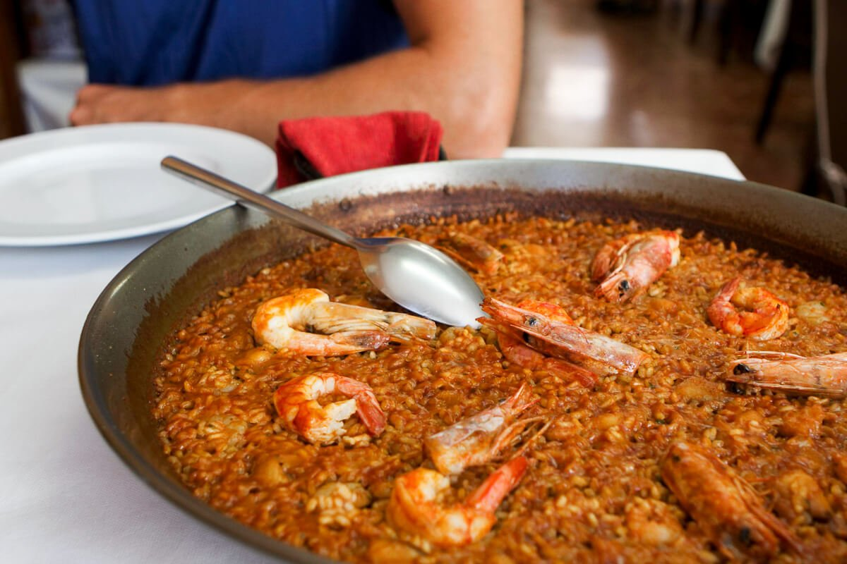 Authentic senyoret paella in Albuferra
