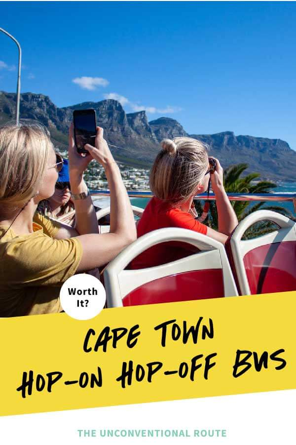 Cape Town hop on hop off bus Pinterest pin.