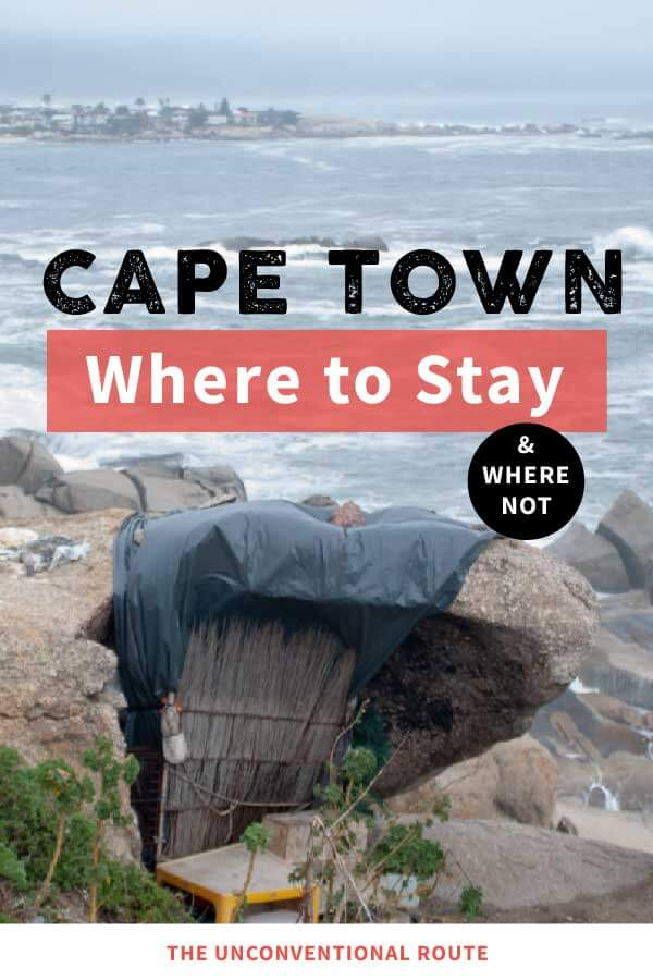 Cape Town where to stay not beautiful pin.
