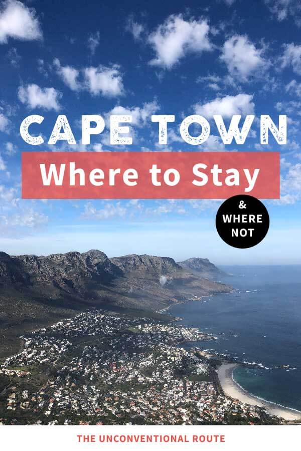 Cape Town where to stay beautiful pin