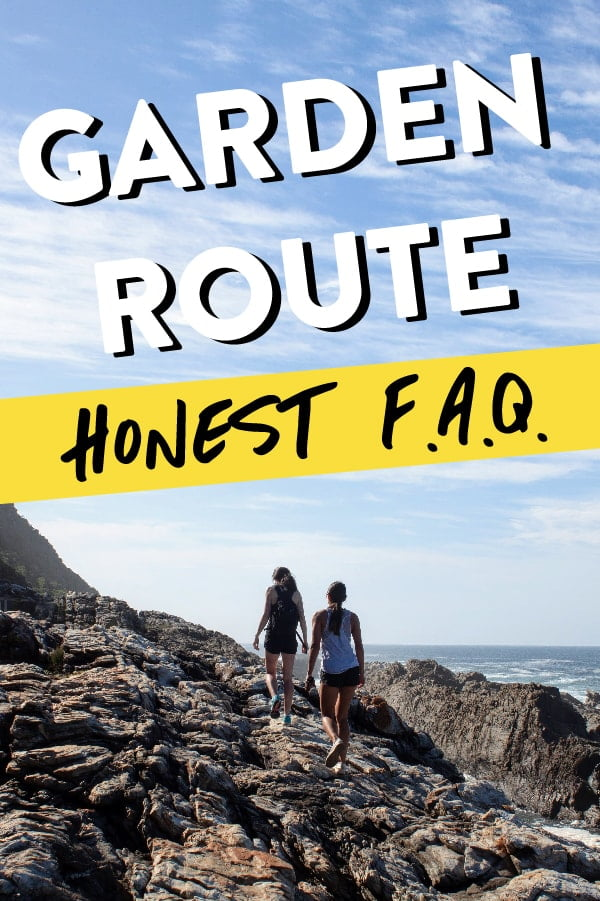 Garden Route travel guide blog pin
