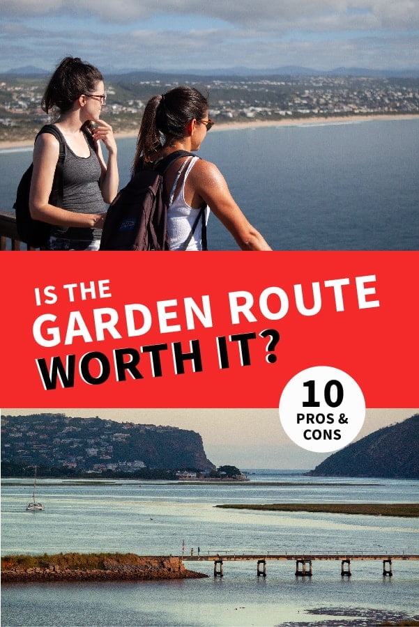 Is the Garden Route, South Africa Worth It, Pros and Cons pin.