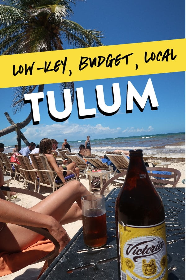 Tulum things to do travel guide Pinterest pin.