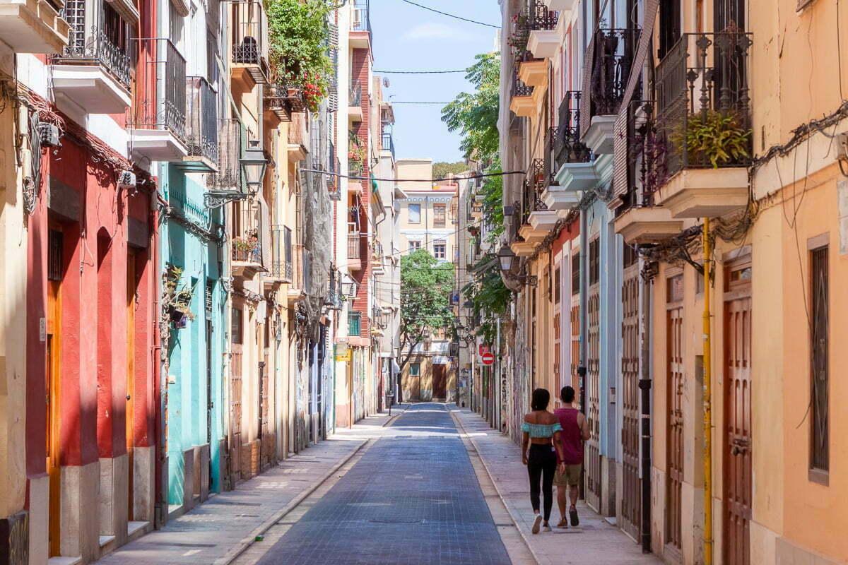 Quiet streets in El Carmen