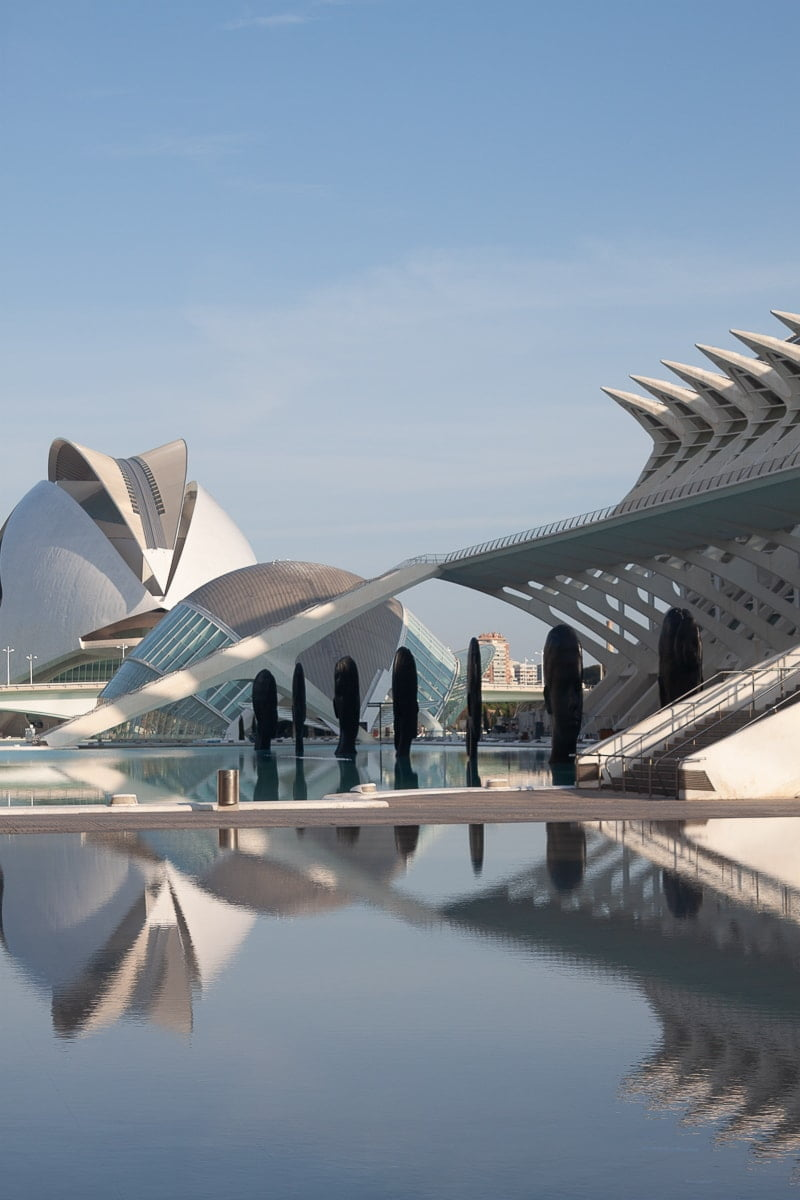 View of Valencia's city of arts and sciences buildings