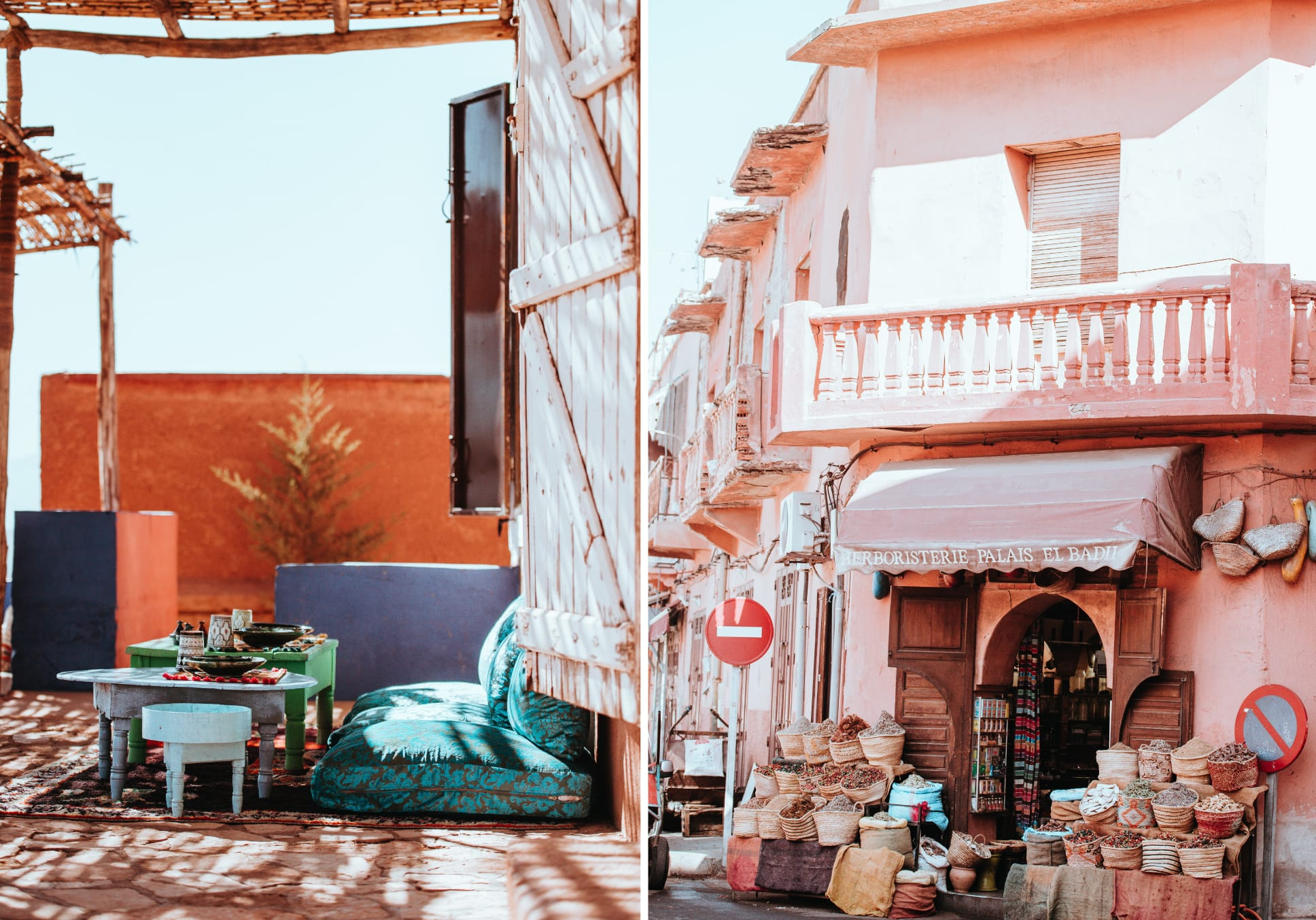 Moroccan lifestyle shots hues of red