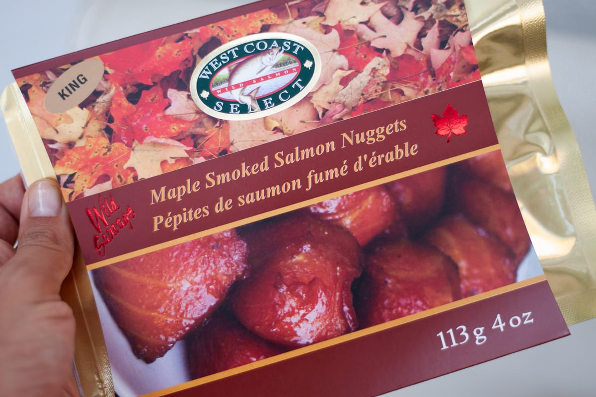 Maple salmon gift from Canada