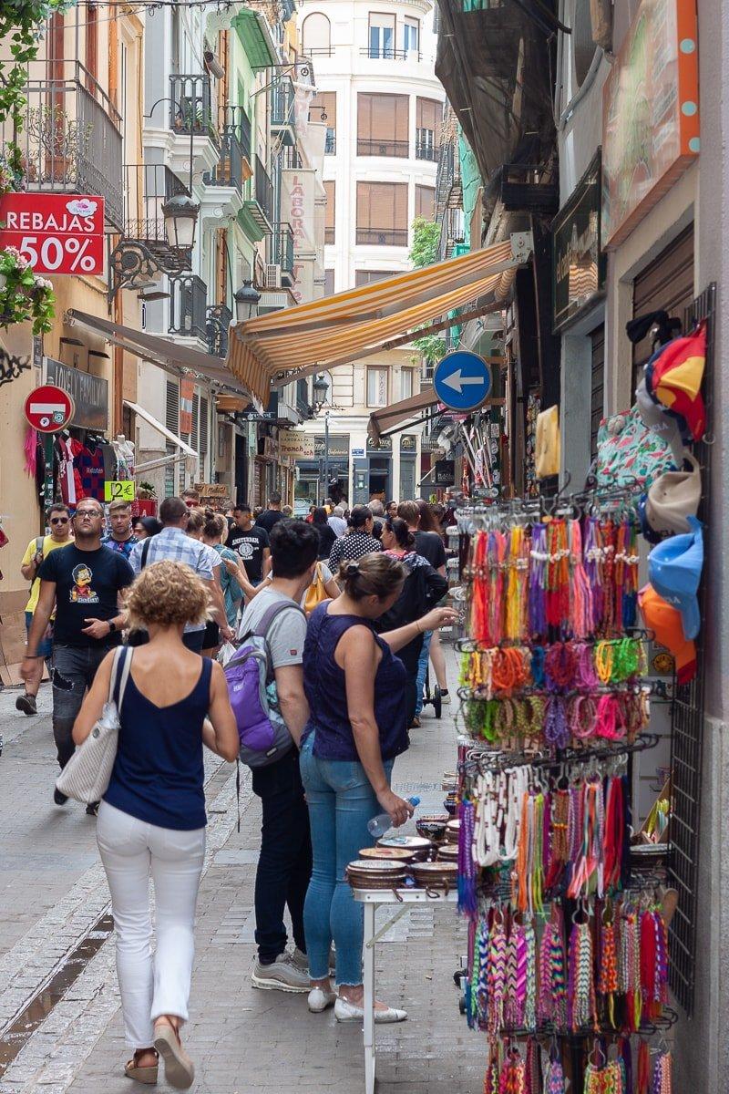 Touristy Valencia street