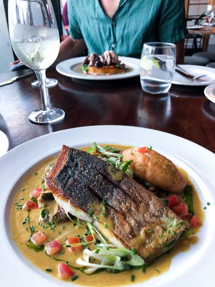 Black Sheep restaurant fish dish