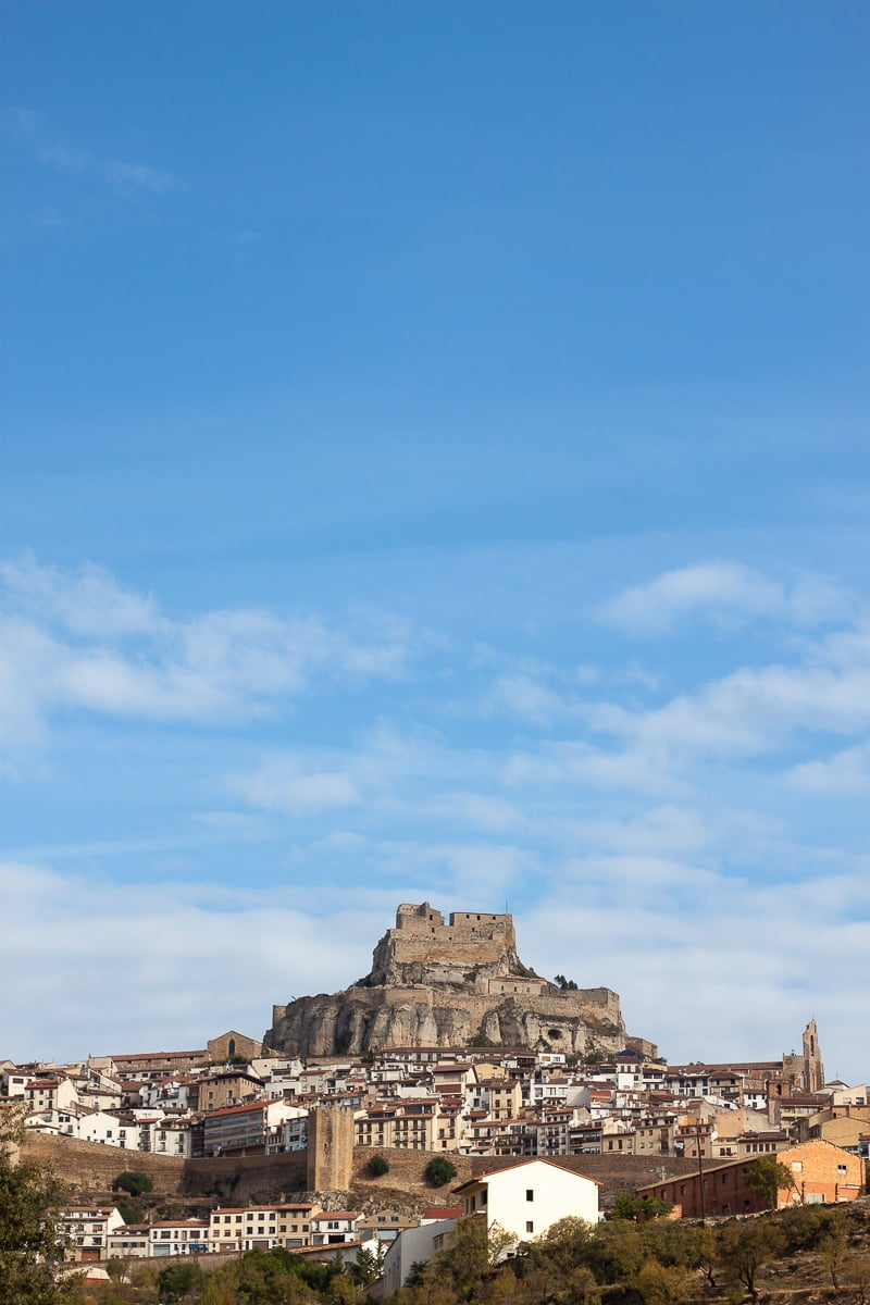 View of Morella and its castle.