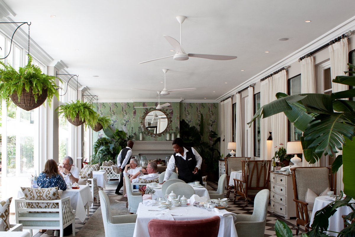 Mount Nelson high tea dining room in Cape Town