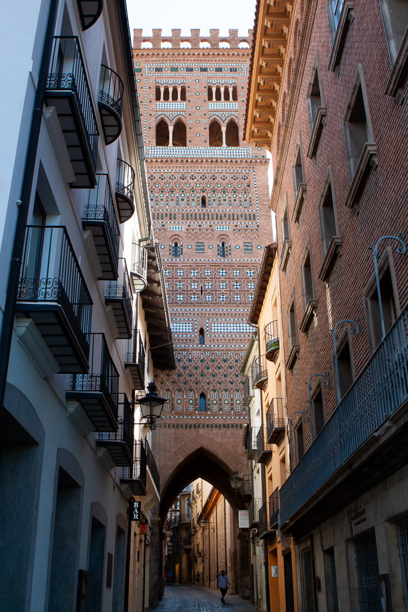 Turuel architecture and medieval streets in central Spain.