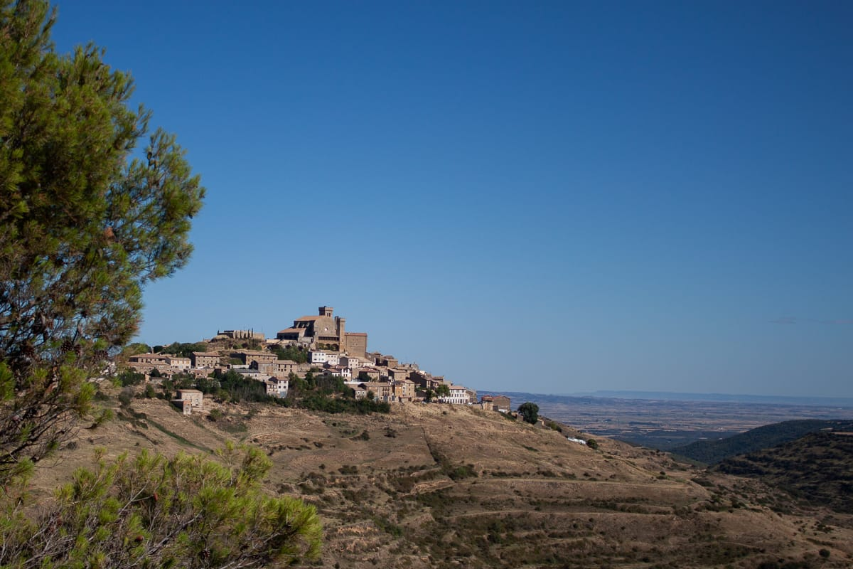 The ancient town of Ujue, sitting on the edge of a hill.