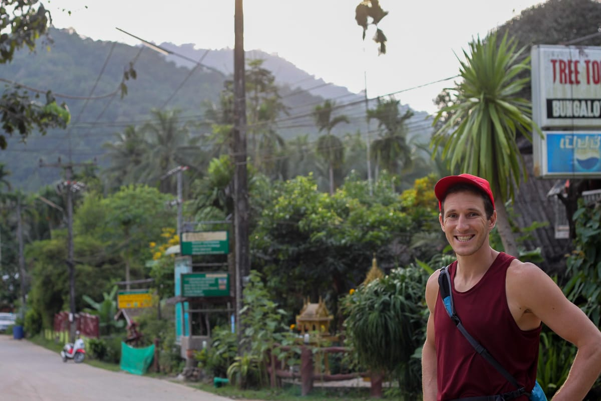 downtown ready to go hiking in khao sok