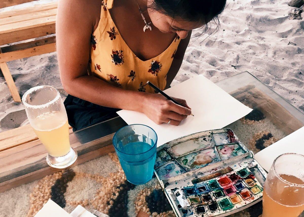 Kim painting watercolor