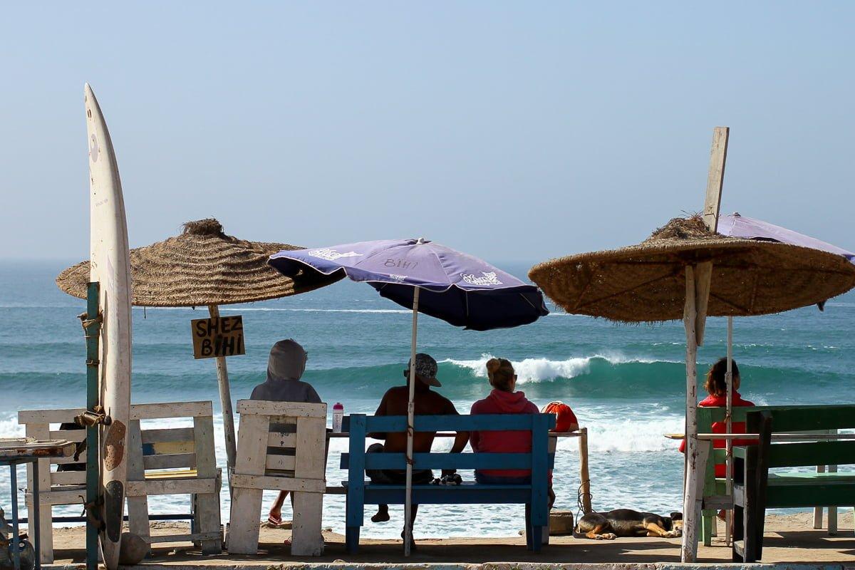 Surfers in Imsouane in Morocco