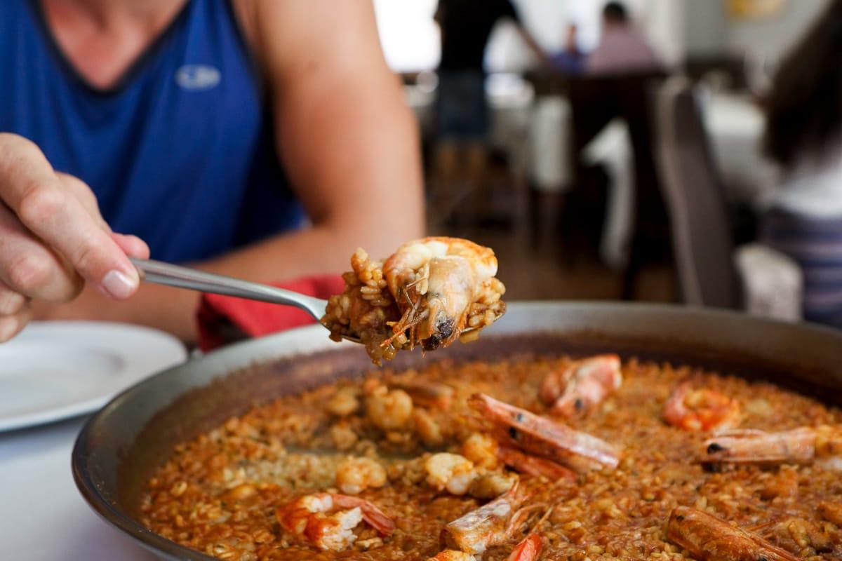 Seafood paella at La Pasqualet