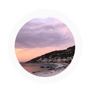 Camps Bay pink skies