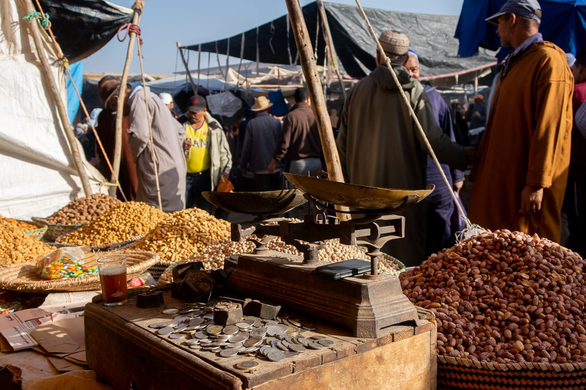 Had Draa Sunday market just outside of Essaouira is a must in our Essaouira trave blog guide