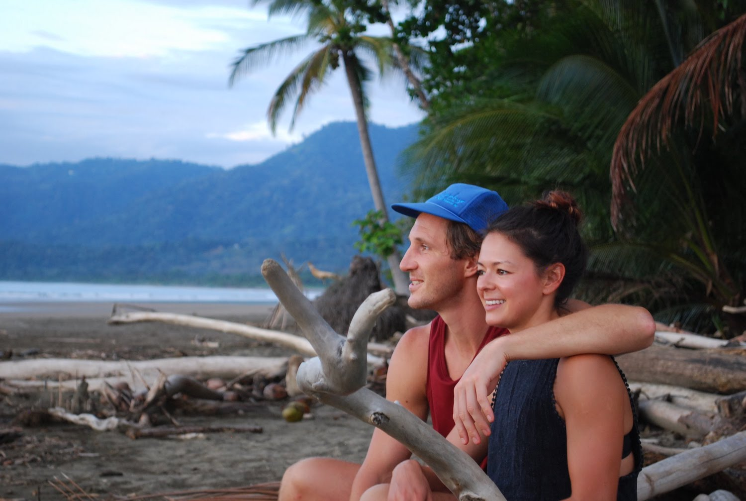 How to take a career break photo of Chris and Kim in Costa Rica