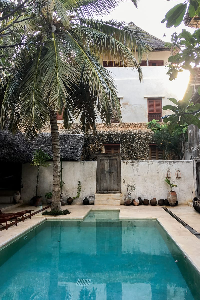 Expensive hotel in Lamu Kenya, one of the pros of Airbnb vs Hotels