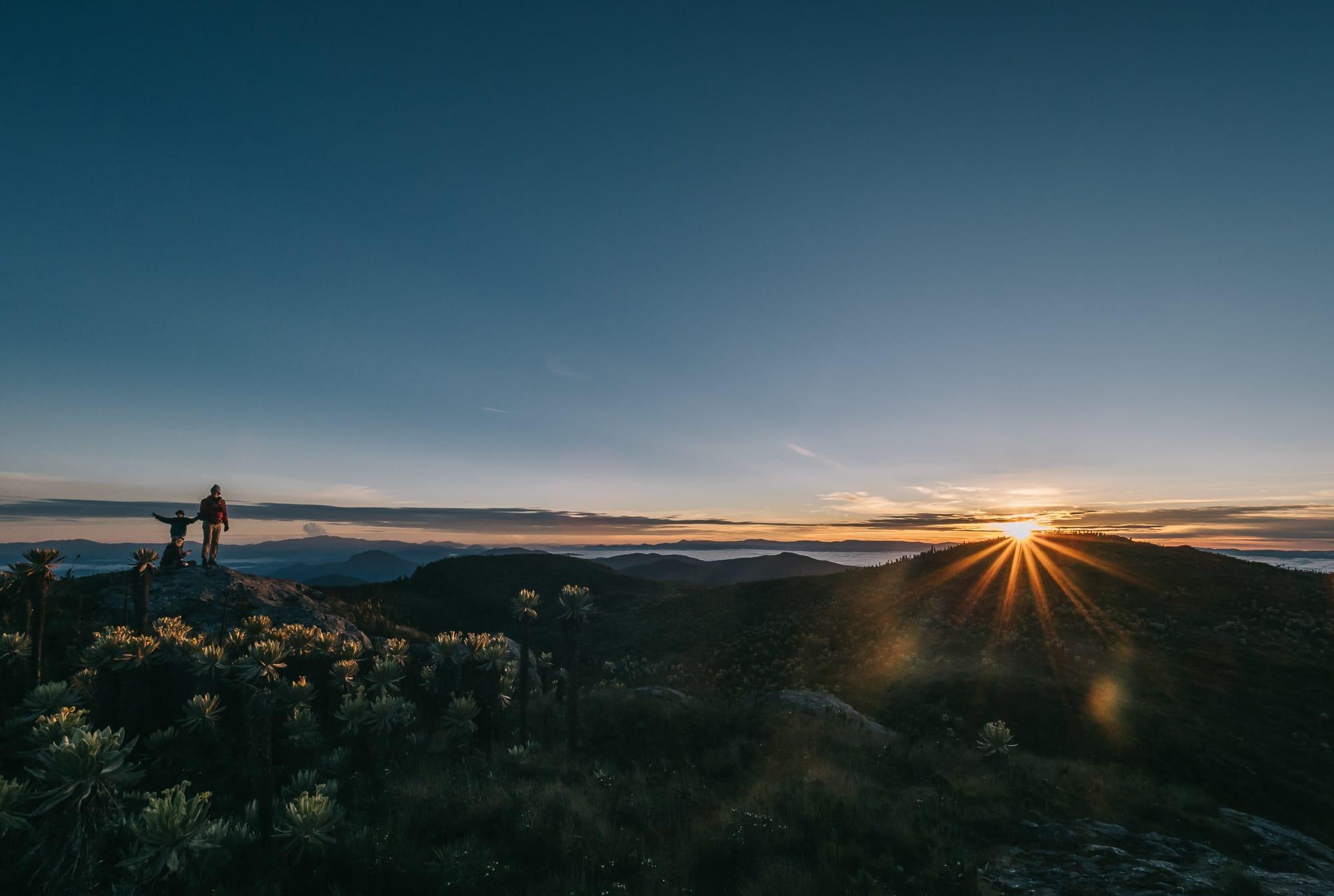 Paramo del sol sunrise