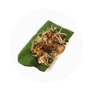 Pad thai n banana leaf