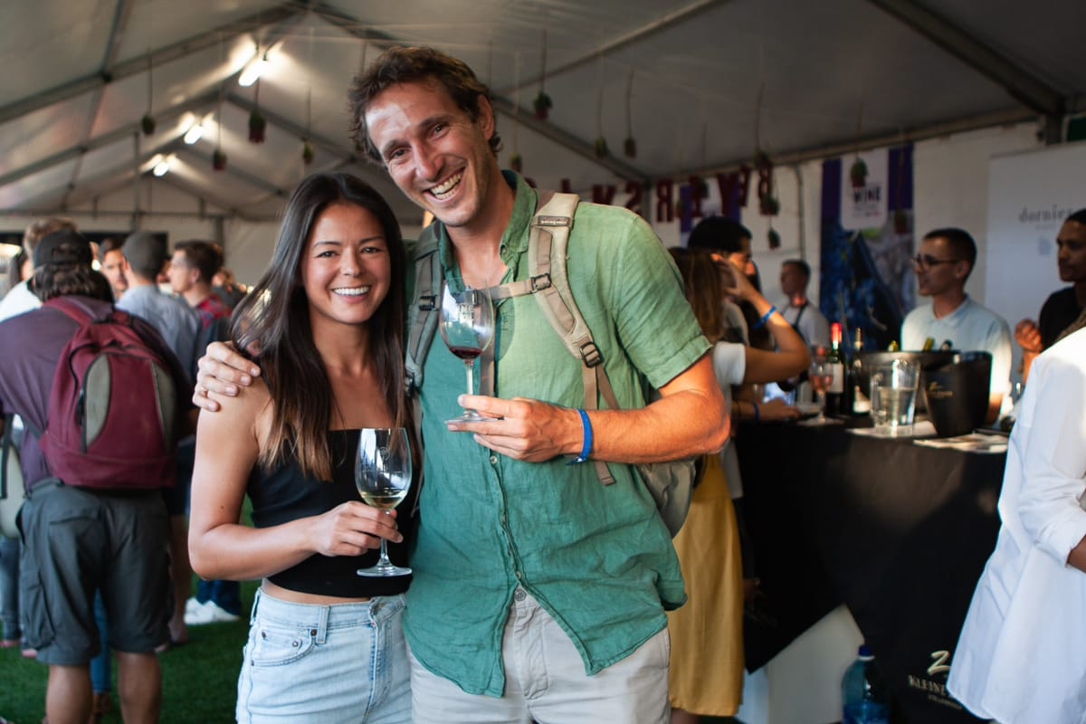 Kim and Chris at a wine tasting even in Cape Town