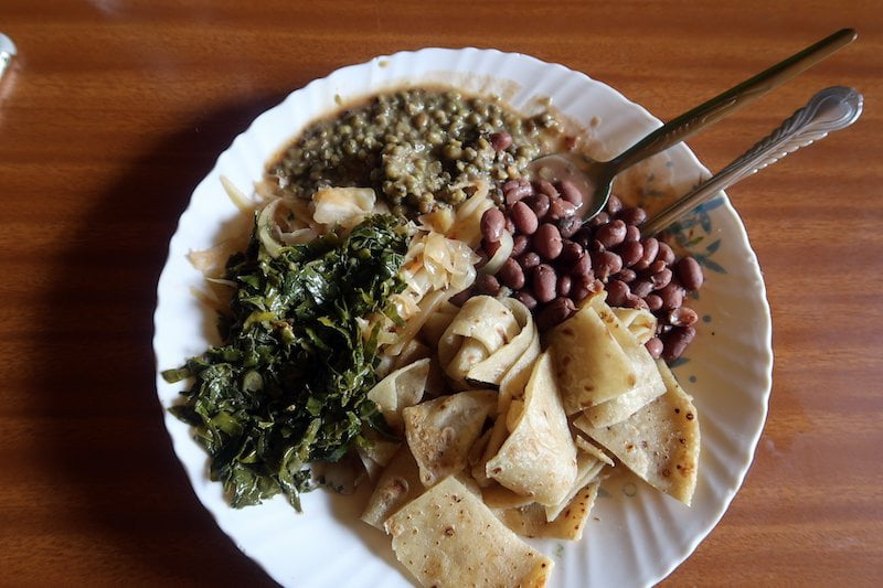 Typical food you'll eat while backpacking in kenya