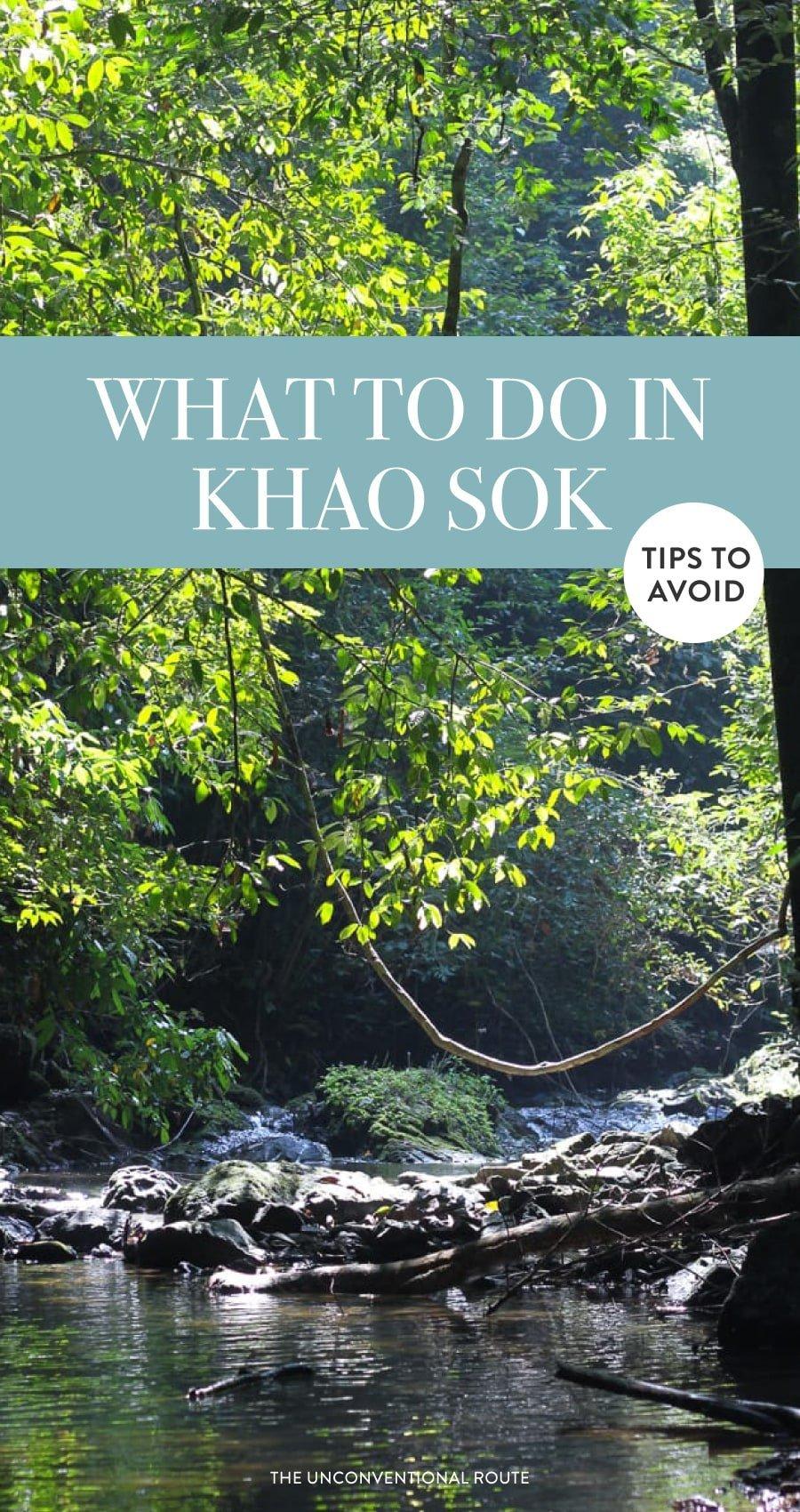 Hiking in Khao Sok