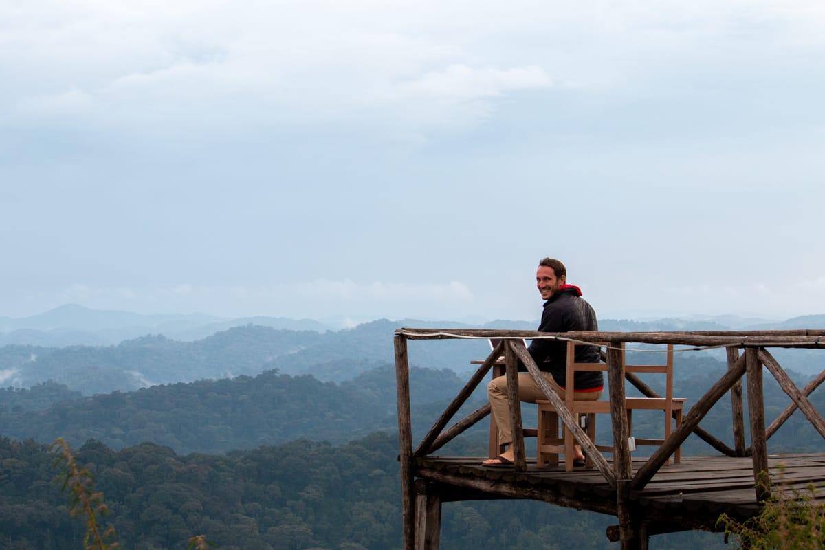 Chris blogging in Rwanda