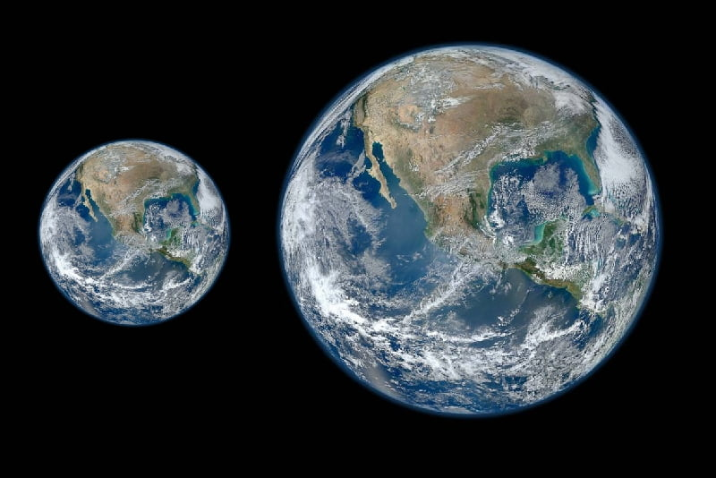 Big earth and small earth