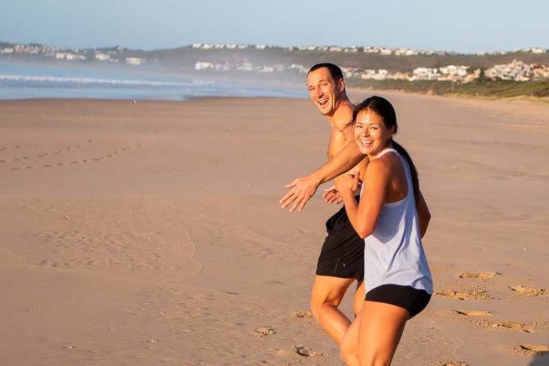 Kim and Chris running and inviting you to join on their quest to live a meaningful life.
