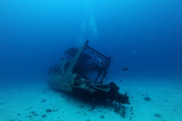 Sunken ship to represent our inevitable death