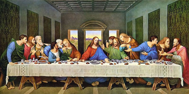 No cutler at the last supper