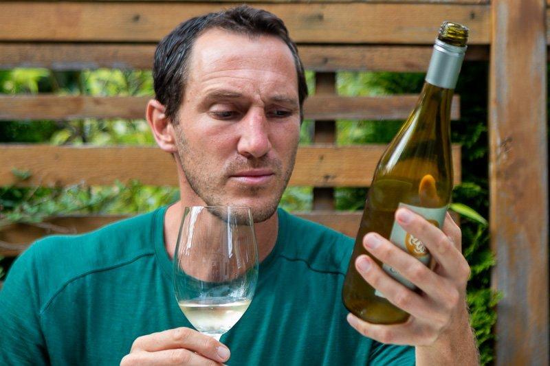 Reading a wine bottle description with doubt