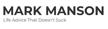 Header for Mark Manson's self help blog