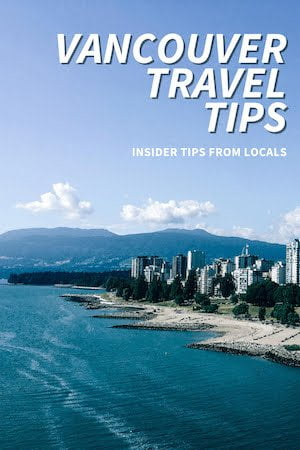 Vancouver travel tips sidebar image