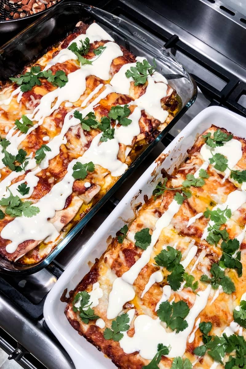 enchiladas for a dinner party