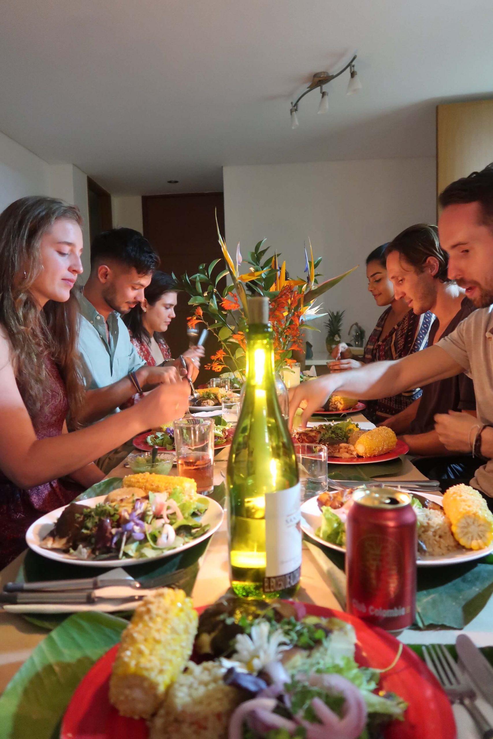 dinner party medellin conversation