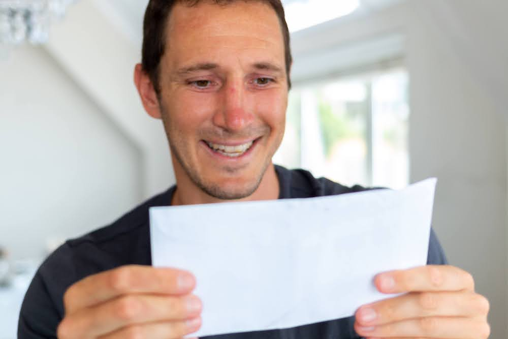 Me holding my letter to my future self that I wrote