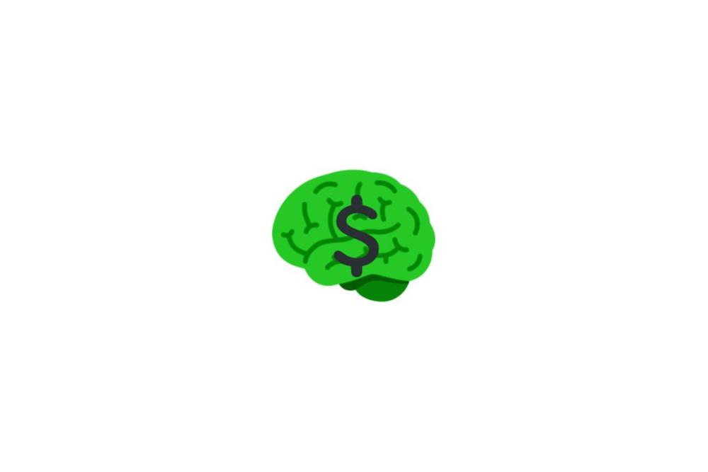 Cover of how to be smart with money post of a green brain with a dollar sign