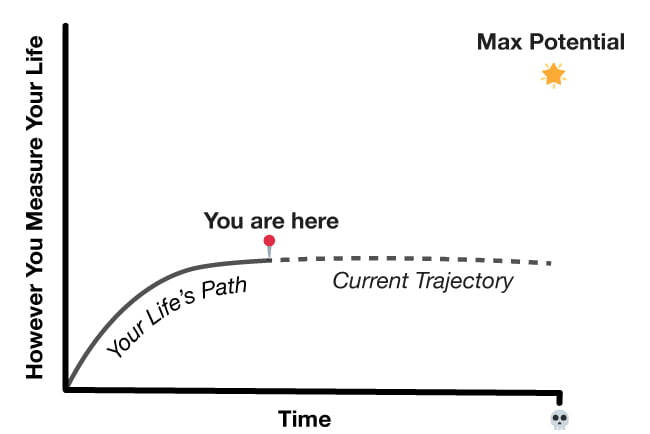 Life's path chart to use to figure out how to come up with better decisions.